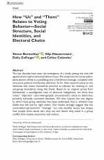 New article on the social identity bases of contemporary cleavages.