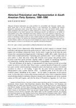 Historical Polarization and Representation in South American Party Systems.